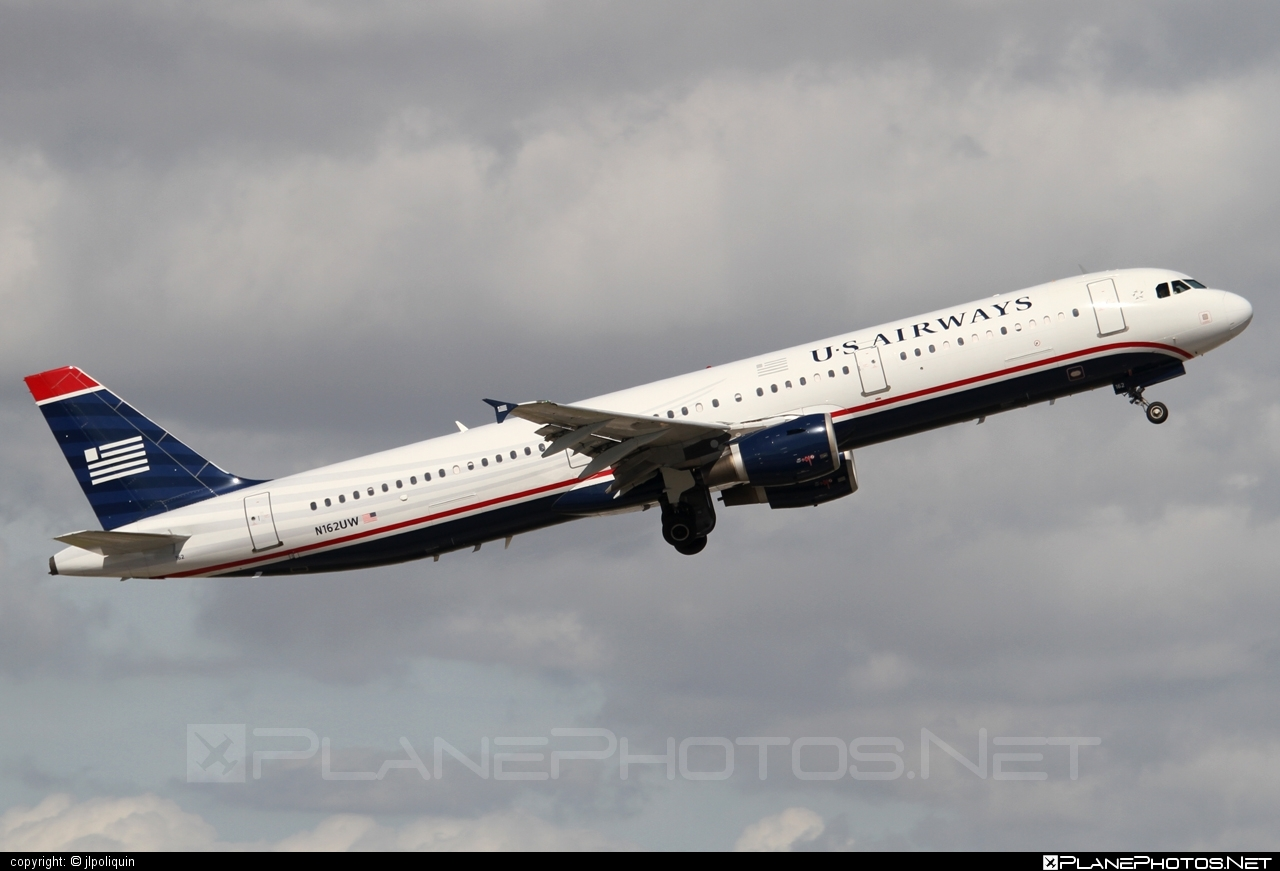Airbus A321-211 - N162UW operated by US Airways #a320family #a321 #airbus #airbus321