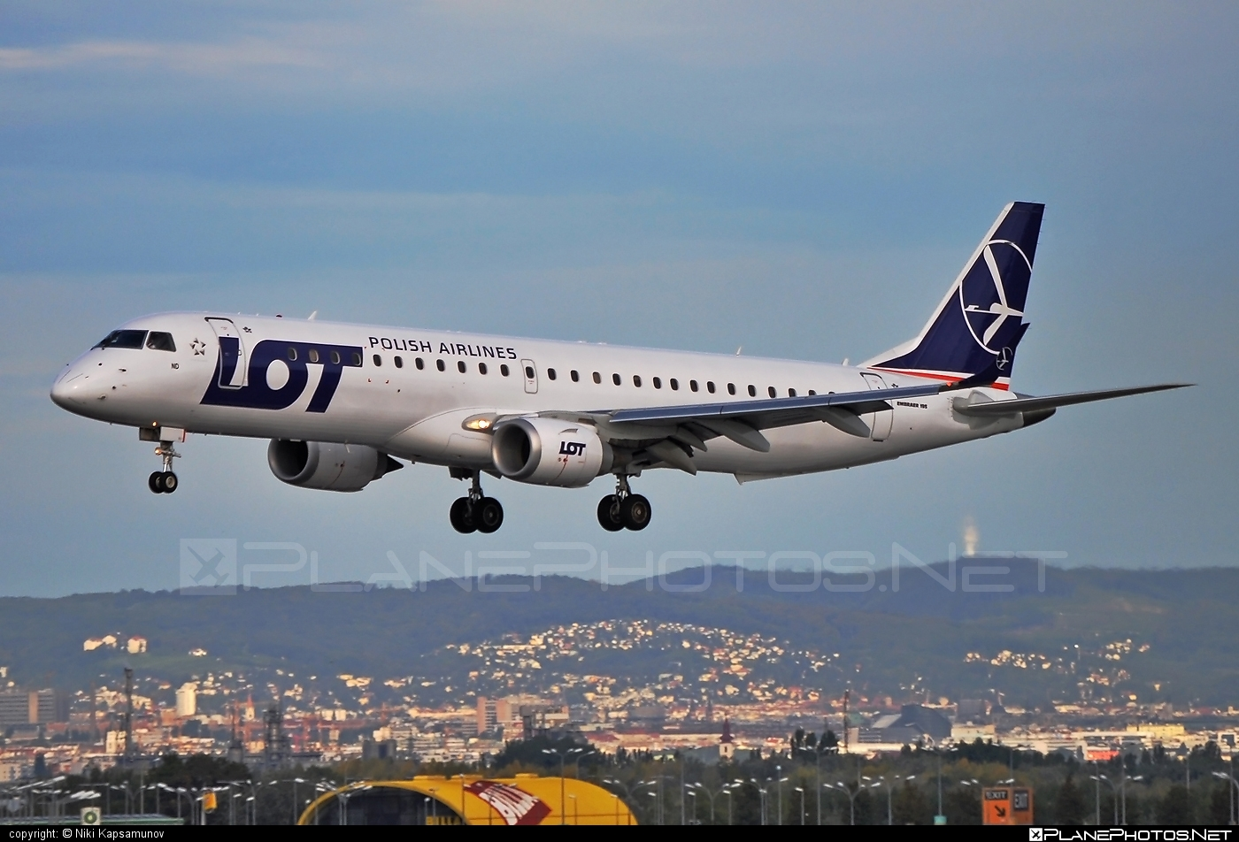Embraer E195LR (ERJ-190-200LR) - SP-LND operated by LOT Polish Airlines #e190 #e190200 #e190200lr #e195lr #embraer #embraer190200lr #embraer195 #embraer195lr #lot #lotpolishairlines
