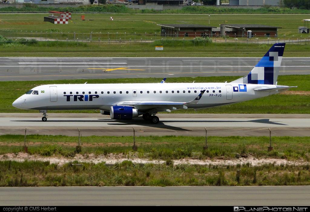 Embraer E190LR (ERJ-190-100LR) - PP-PJQ operated by TRIP Linhas Aereas #e190 #e190100 #e190100lr #e190lr #embraer #embraer190 #embraer190100lr #embraer190lr