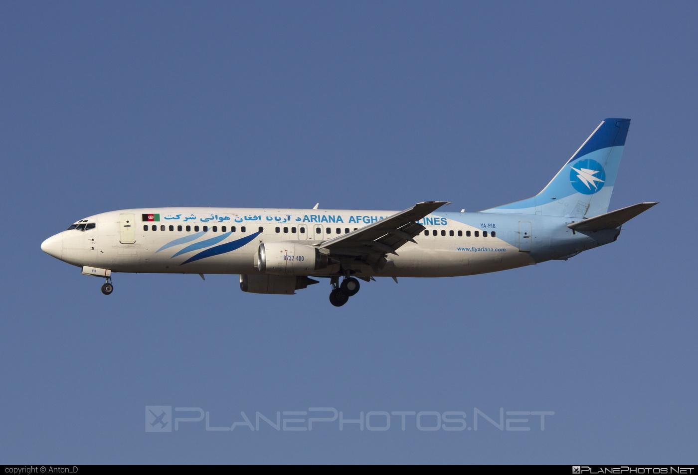 Boeing 737-400 - YA-PIB operated by Ariana Afghan Airlines #b737 #boeing #boeing737