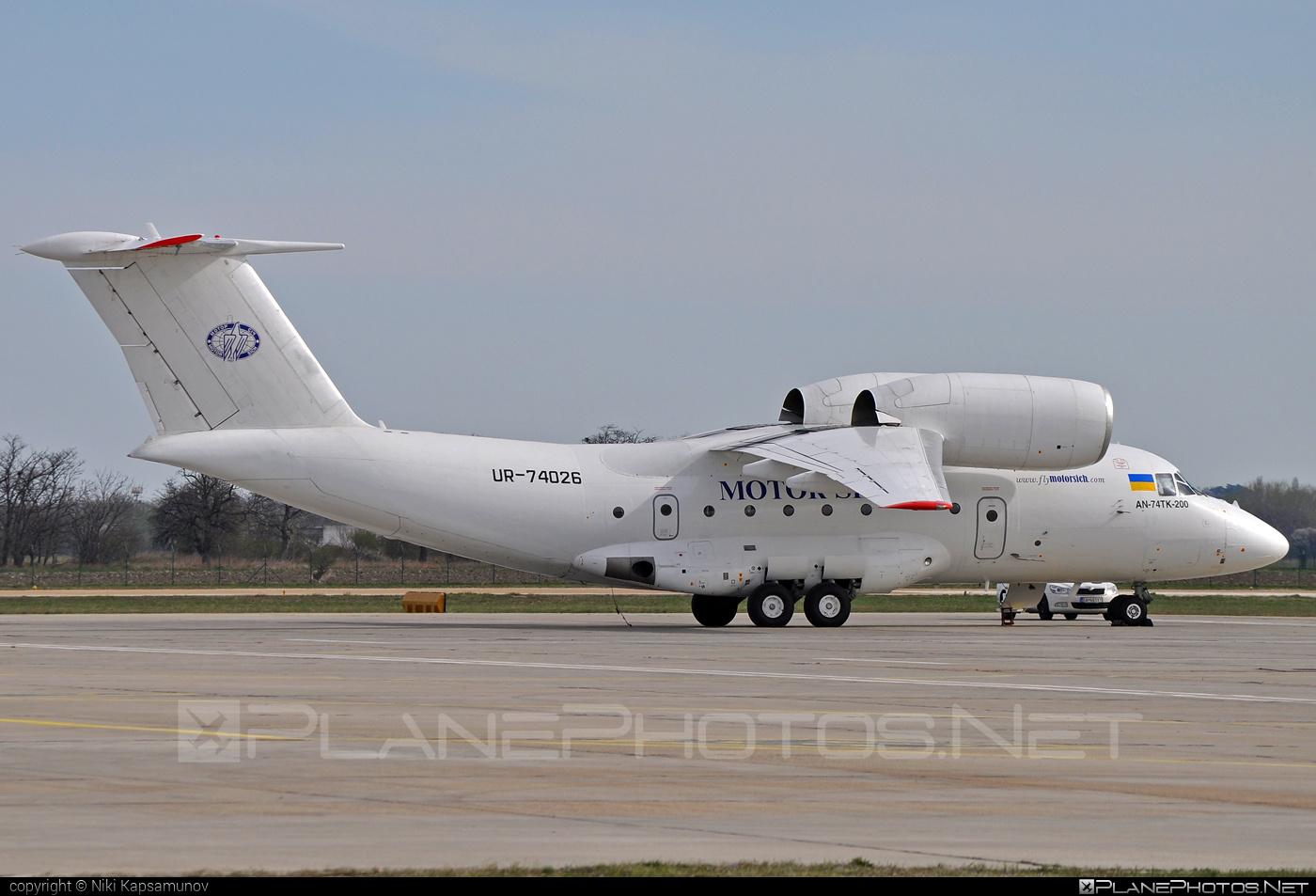 Antonov An-74TK-200 - UR-74026 operated by Motor Sich Airline #an74 #an74tk200 #antonov #antonov74