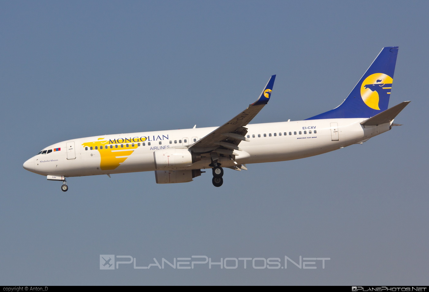 Boeing 737-800 - EI-CXV operated by MIAT Mongolian Airlines #b737 #b737nextgen #b737ng #boeing #boeing737