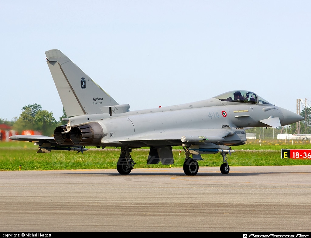 Eurofighter Typhoon S - CSX7281 operated by Aeronautica Militare (Italian Air Force) #eurofighter #typhoon