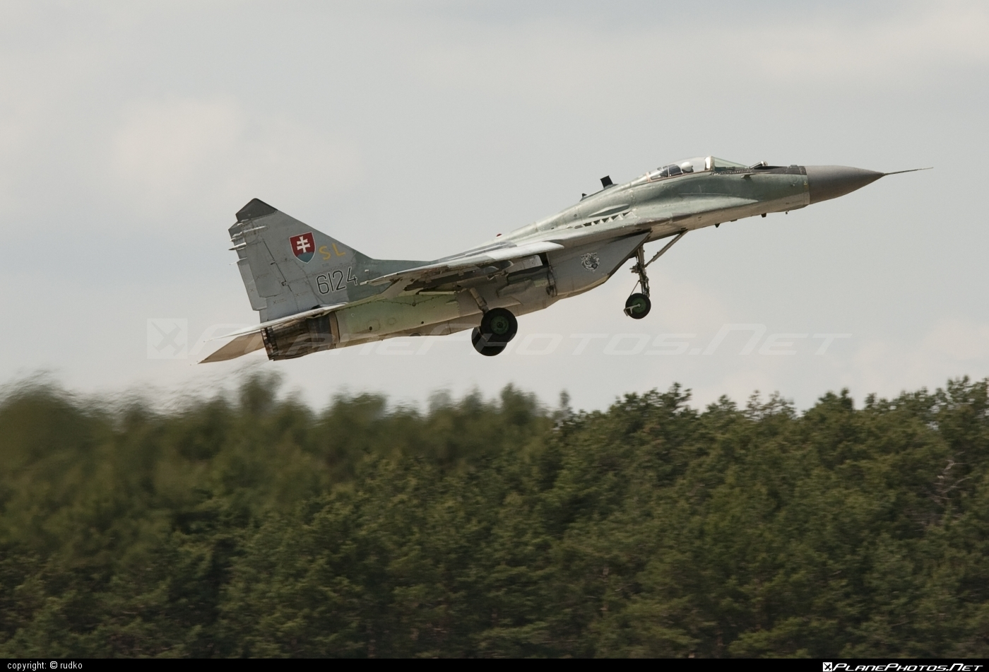 Mikoyan-Gurevich MiG-29AS - 6124 operated by Vzdušné sily OS SR (Slovak Air Force) #mig #mig29 #mig29as #mikoyangurevich #slovakairforce #vzdusnesilyossr