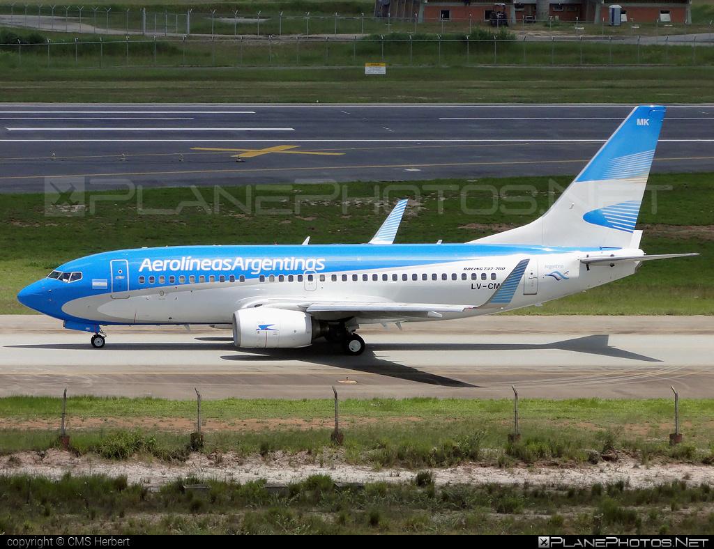 Boeing 737-700 - LV-CMK operated by Aerolíneas Argentinas #b737 #b737nextgen #b737ng #boeing #boeing737