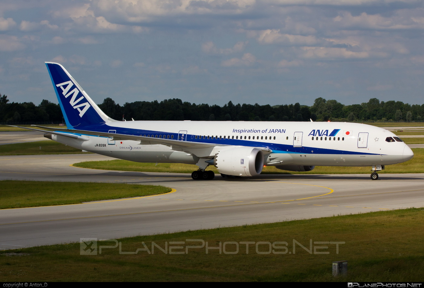 Boeing 787-8 Dreamliner - JA828A operated by All Nippon Airways (ANA) #b787 #boeing #boeing787 #dreamliner