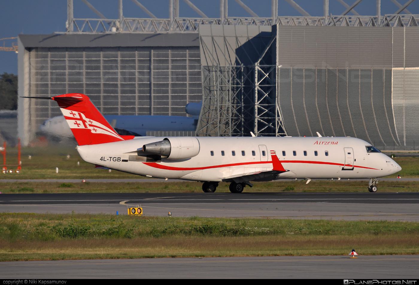 Bombardier CRJ200LR - 4L-TGB operated by Georgian Airways - Airzena #airzena #bombardier #crj200 #crj200lr #georgianairways