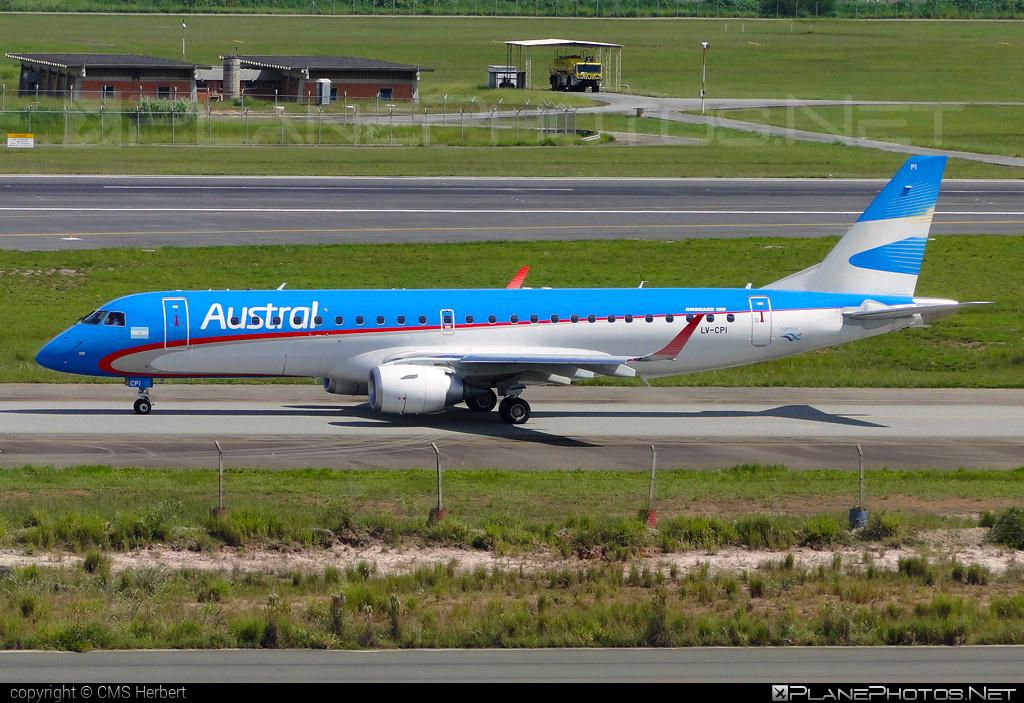 Embraer E190IGW (ERJ-190-100IGW) - LV-CPI operated by Austral Líneas Aéreas #e190 #e190100 #e190100igw #e190igw #embraer #embraer190 #embraer190100igw #embraer190igw