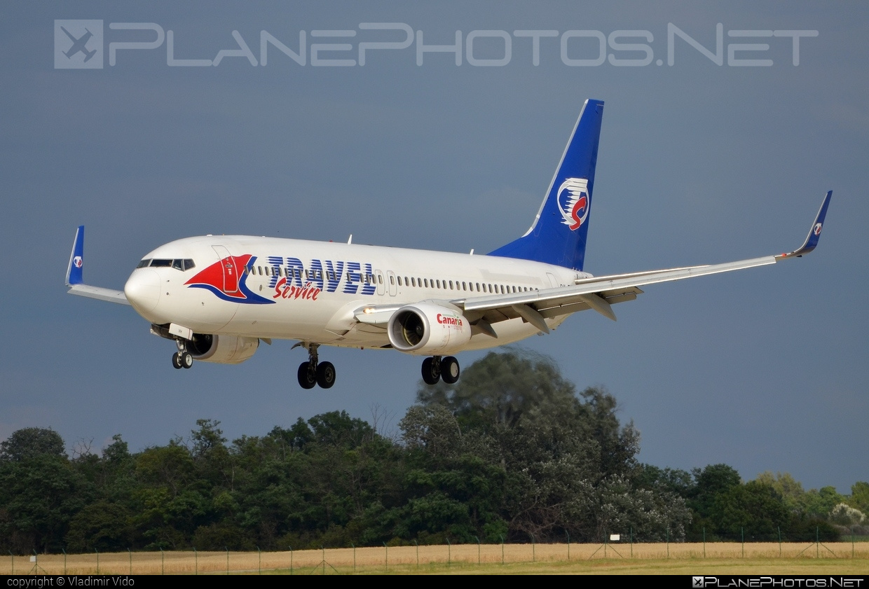 Boeing 737-800 - OK-TVH operated by Travel Service #b737 #b737nextgen #b737ng #boeing #boeing737 #travelservice
