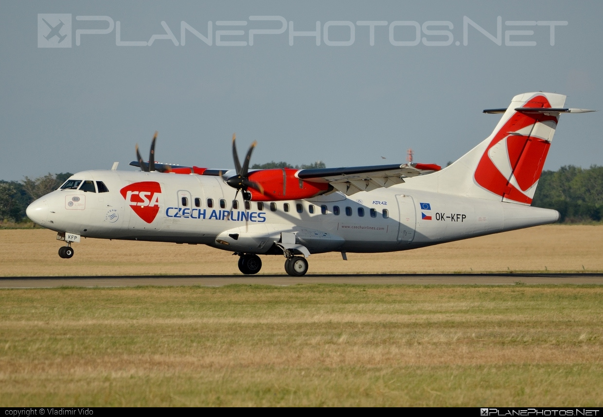 ATR 42-500 - OK-KFP operated by CSA Czech Airlines #atr #atr42 #atr42500 #csa #czechairlines