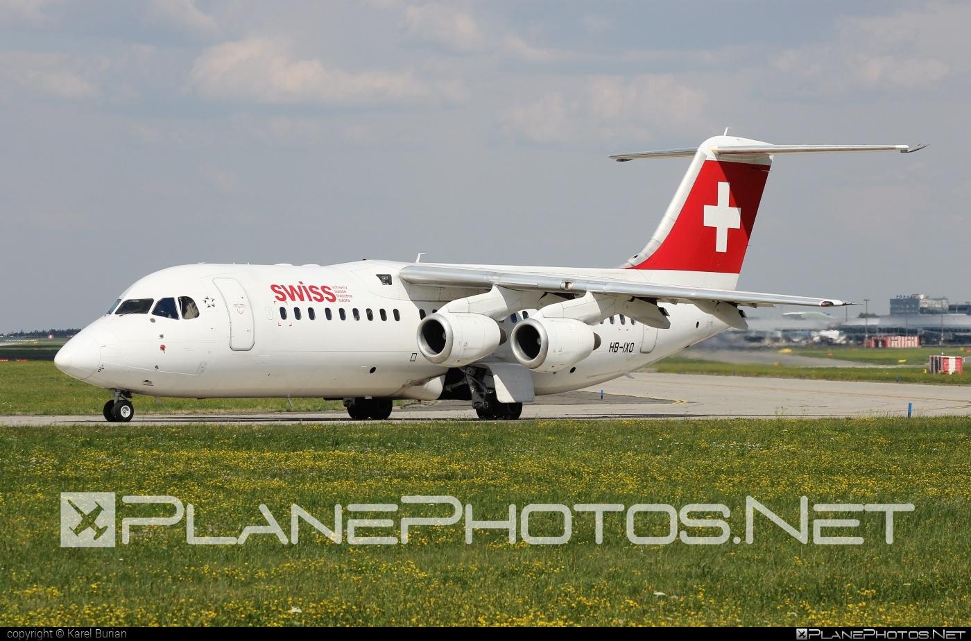 British Aerospace Avro RJ100 - HB-IXO operated by Swiss International Air Lines #avro146rj100 #avrorj100 #bae146 #britishaerospace #swiss #swissairlines