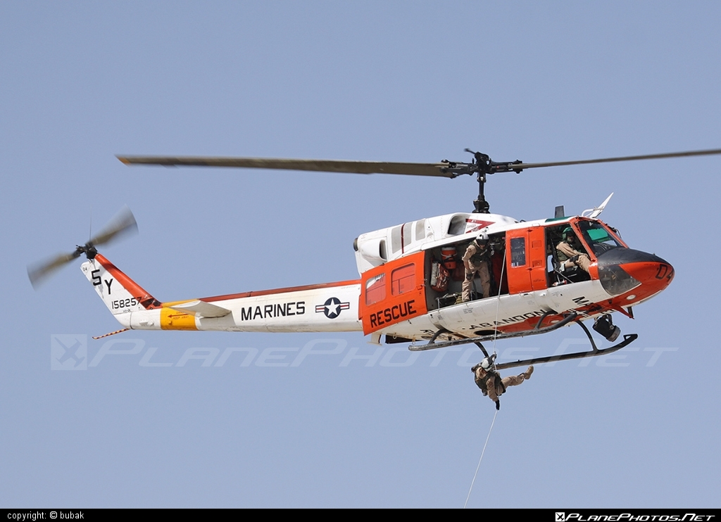 Bell HH-1N Iroquois - 158257 operated by US Marine Corps (USMC) #bell #bellhelicopters