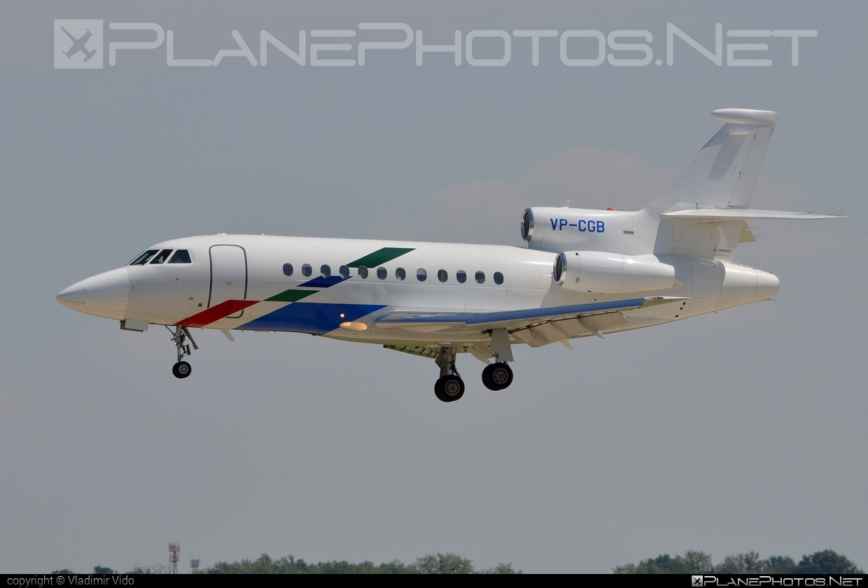 Dassault Falcon 900B - VP-CGB operated by VW Air Services #dassault