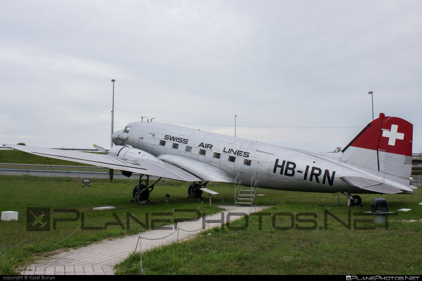 Douglas C-47 Skytrain - HB-IRN operated by Swissair #c47 #dc3 #douglas #skytrain #swissair