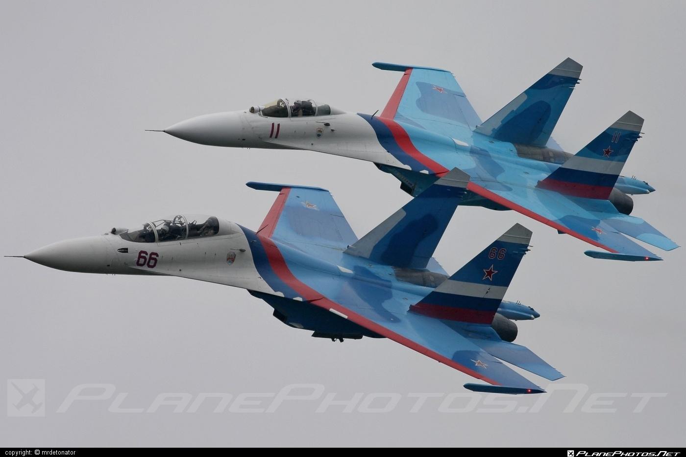 Sukhoi Su-27UB - 66 operated by Voyenno-vozdushnye sily Rossii (Russian Air Force) #su27 #su27ub #sukhoi #sukhoi27