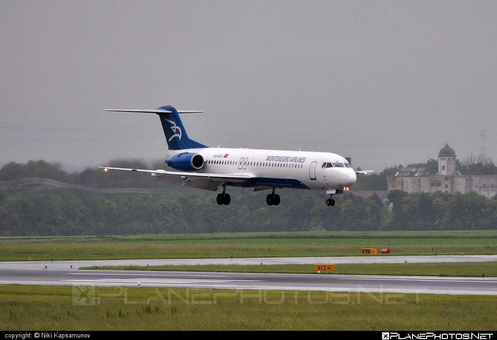Fokker 100 - 4O-AOK operated by Montenegro Airlines #fokker
