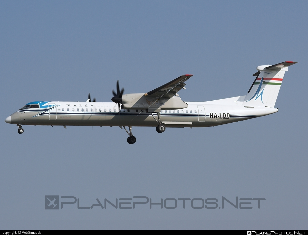 Bombardier DHC-8-Q402 Dash 8 - HA-LQD operated by Malev Hungarian Airlines #bombardier #retro