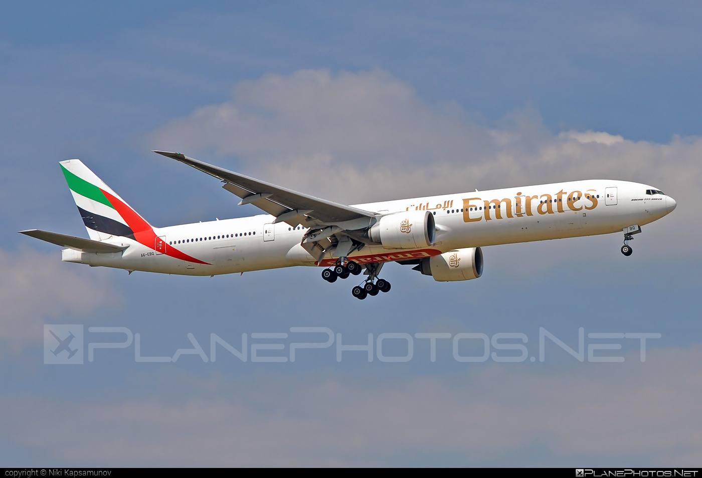 Boeing 777-300ER - A6-EBQ operated by Emirates #b777 #b777er #boeing #boeing777 #emirates #tripleseven