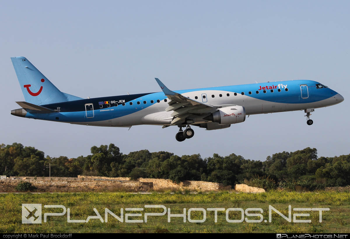 Embraer 190-100STD - OO-JEM operated by Jetairfly #e190 #embraer #embraer190 #embraer190std #jetairfly