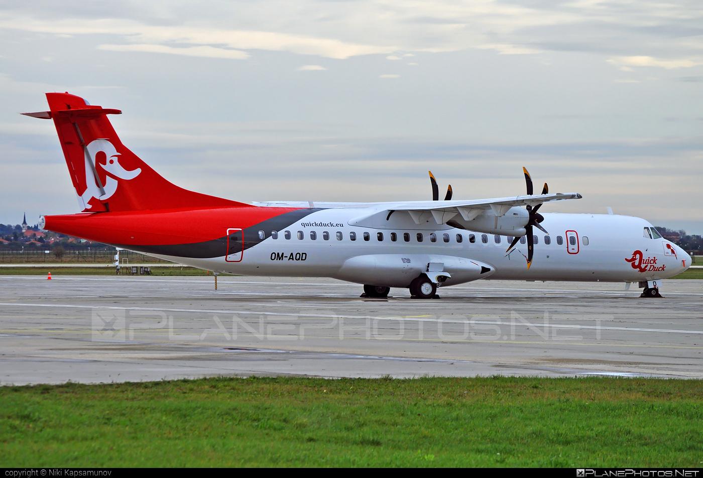 ATR 72-600 - OM-AQD operated by Quick Duck #atr
