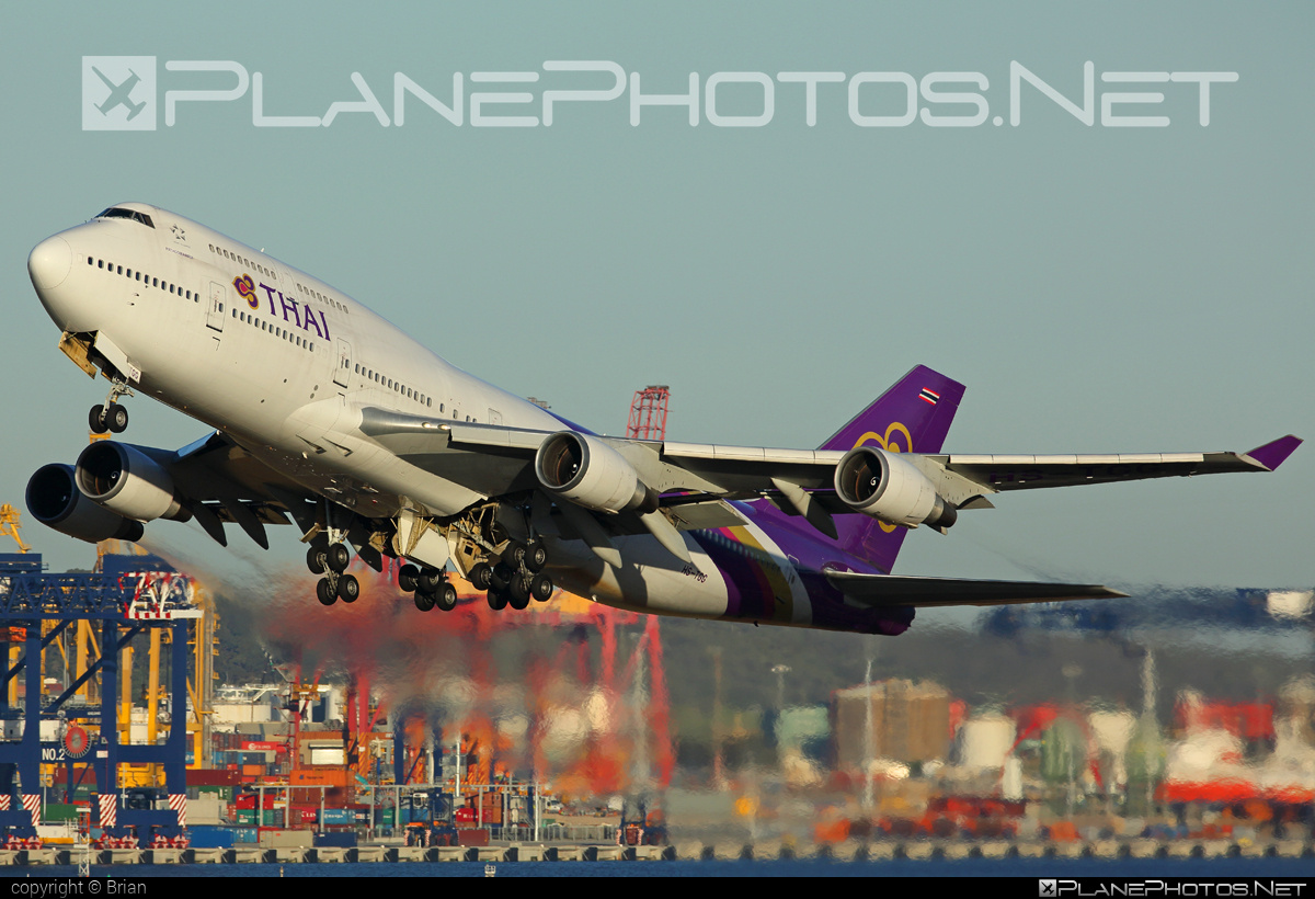 Boeing 747-400 - HS-TGG operated by Thai Airways #b747 #boeing #boeing747 #jumbo #thaiairways