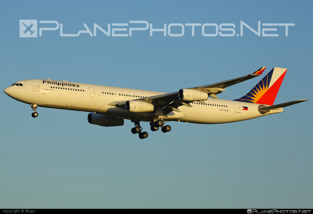 Airbus A340-313 - RP-C3436 operated by Philippine Airlines #a340 #a340family #airbus #airbus340 #philippineairlines