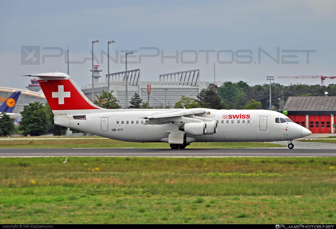 British Aerospace Avro RJ100 - HB-IYY operated by Swiss International Air Lines #avro146rj100 #avrorj100 #bae146 #britishaerospace #swiss #swissairlines