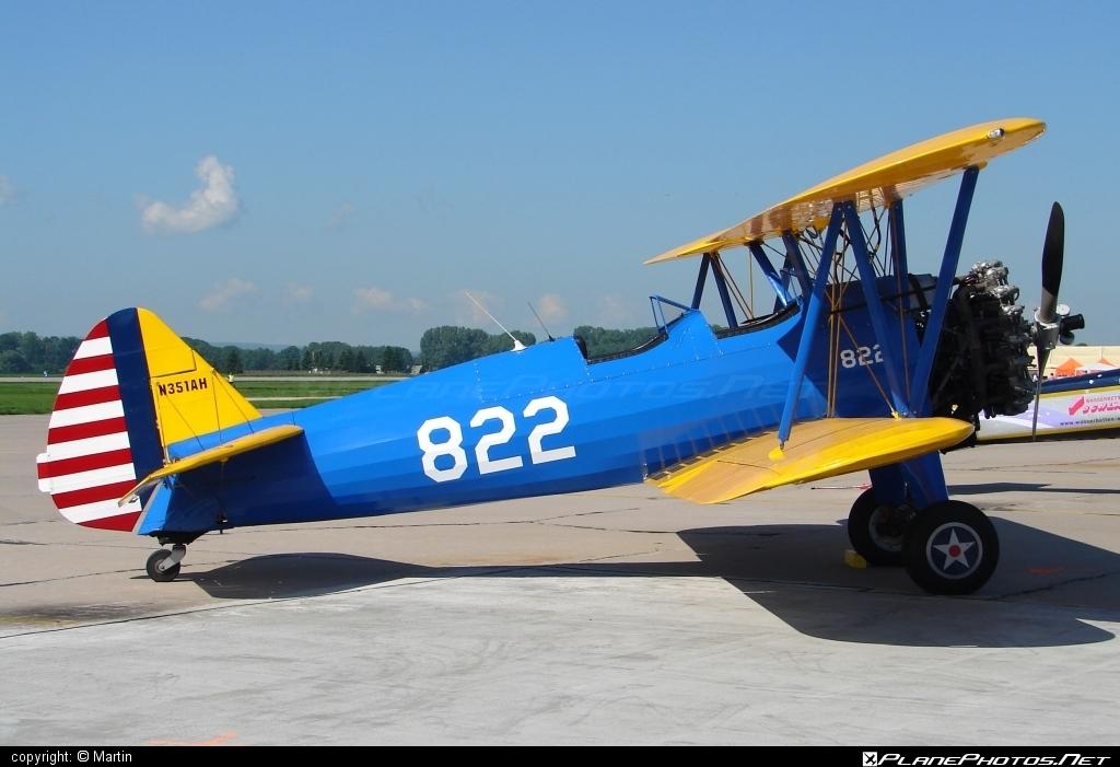 Boeing A75N1 Kaydet - N351AH operated by Private operator #a75n1 #boeing #boeinga75n1 #boeingkaydet #boeingstearman #stearman