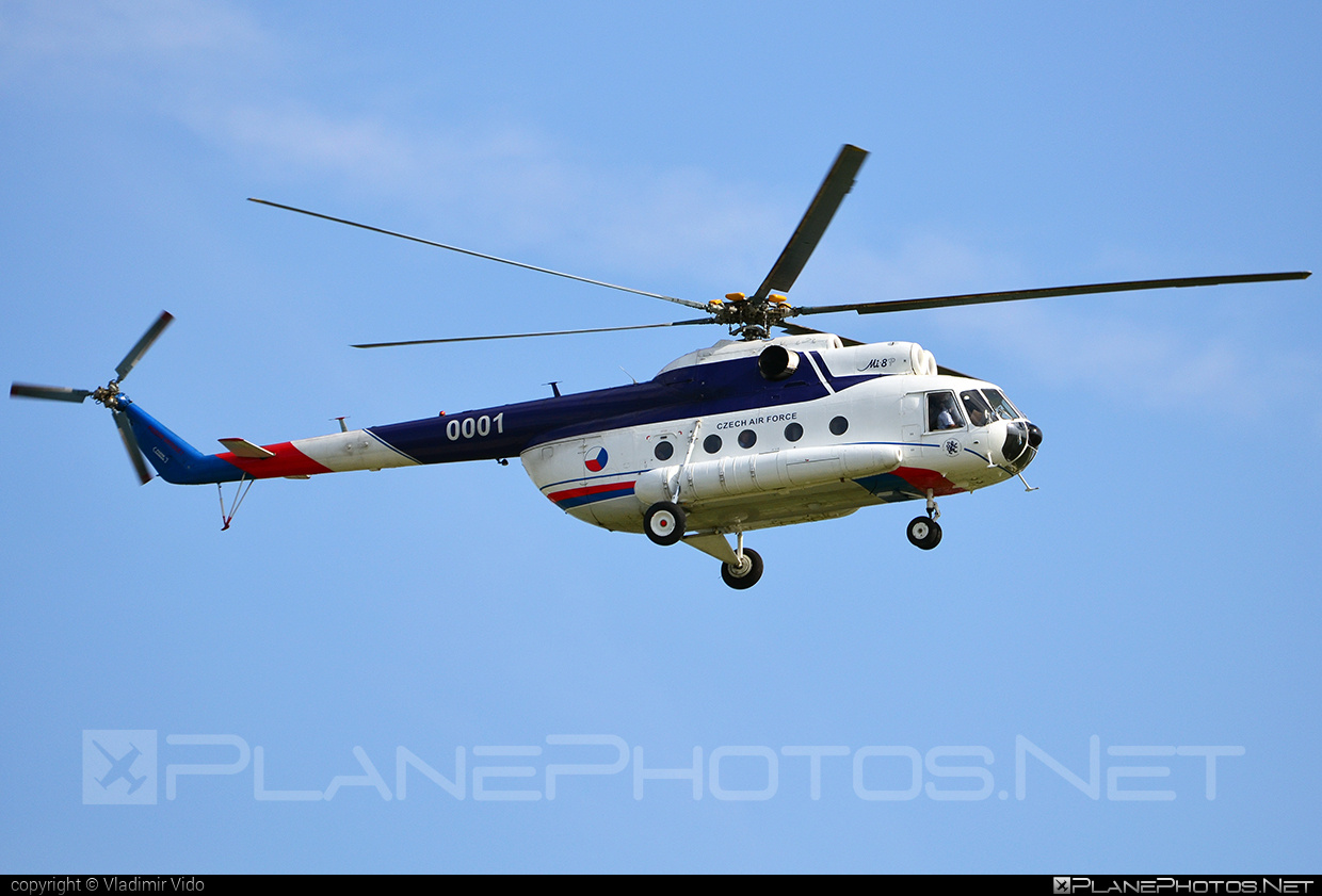 Mil Mi-8P - 0001 operated by Vzdušné síly AČR (Czech Air Force) #czechairforce #mil #milhelicopters #vzdusnesilyacr