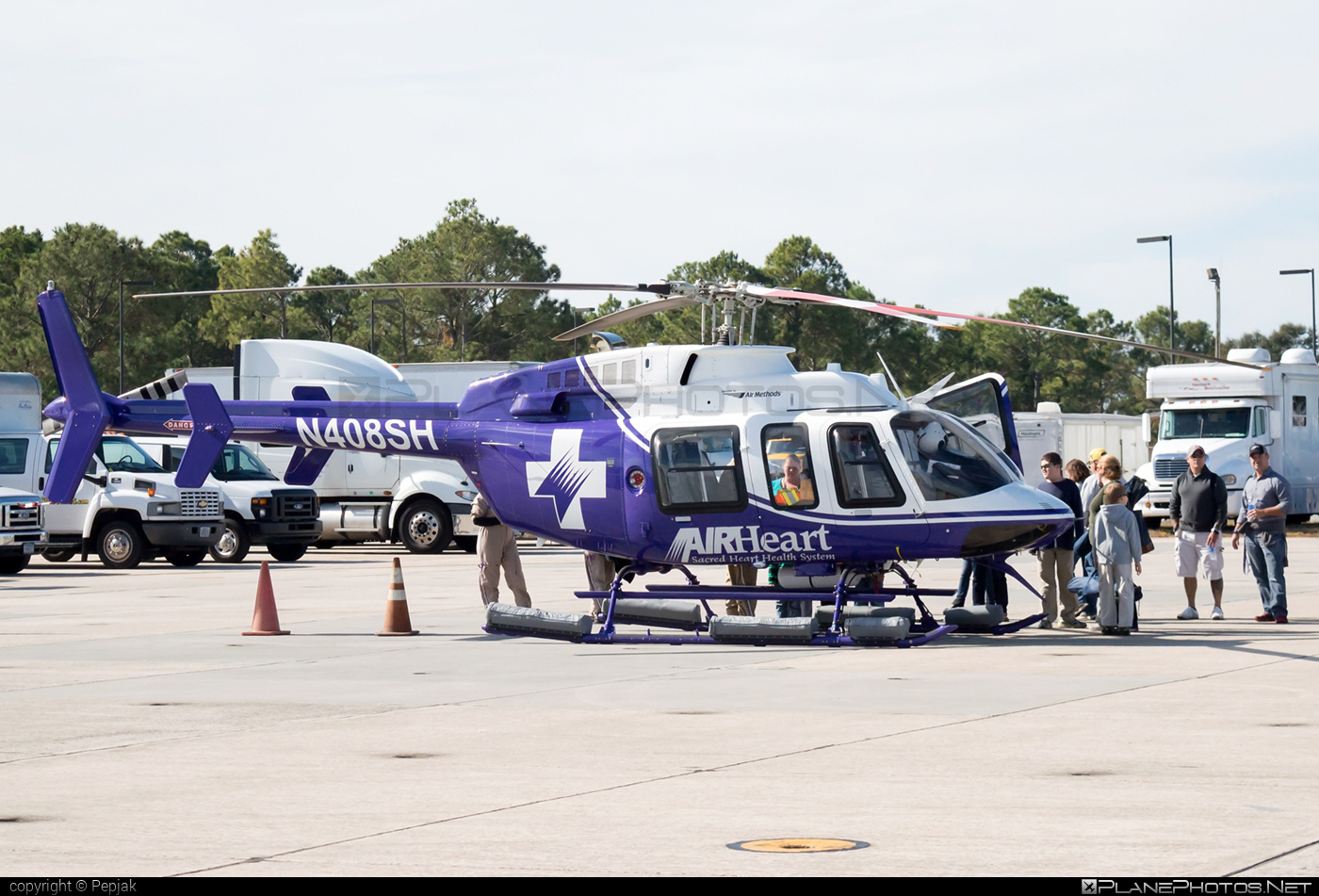Bell 407 - N408SH operated by AIRHeart - Sacred Heart Health System #bell #bellhelicopters
