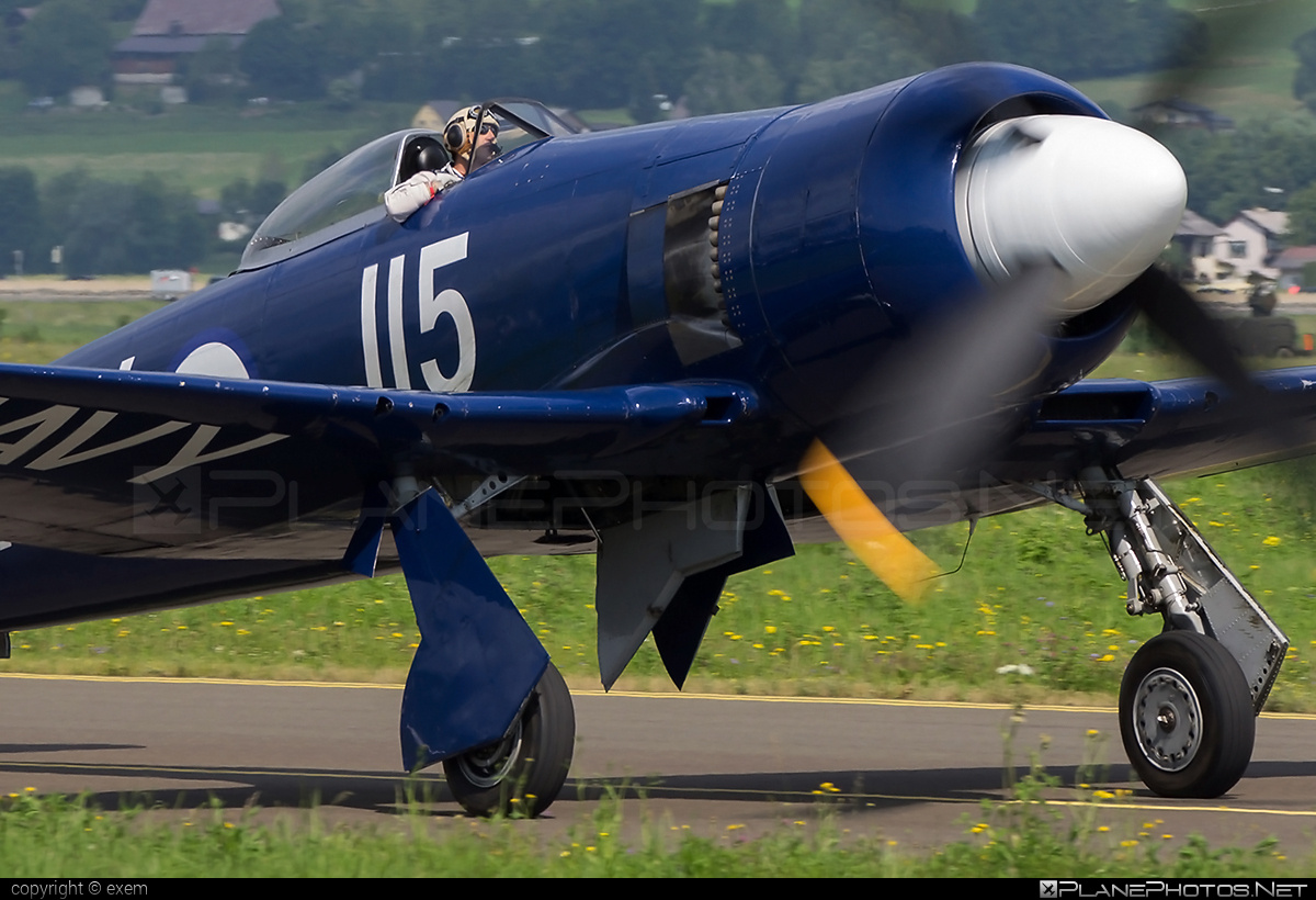 Hawker Sea Fury FB.11 - F-AZXJ operated by Private operator #airpower #airpower2013 #hawker