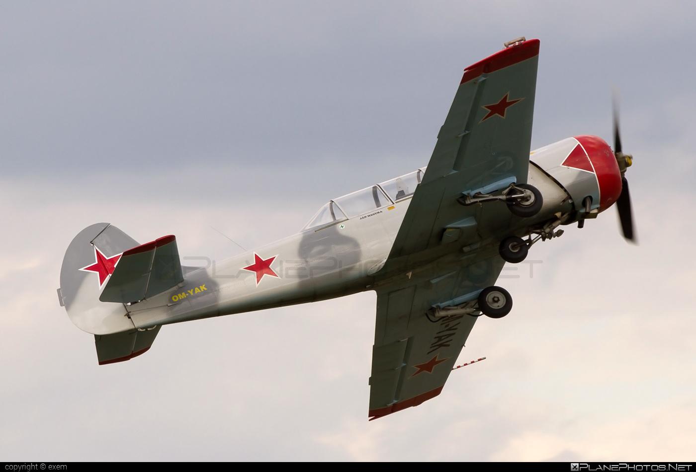 Yakovlev Yak-52 - OM-YAK operated by Aeroklub Košice #yak #yak52 #yakovlev