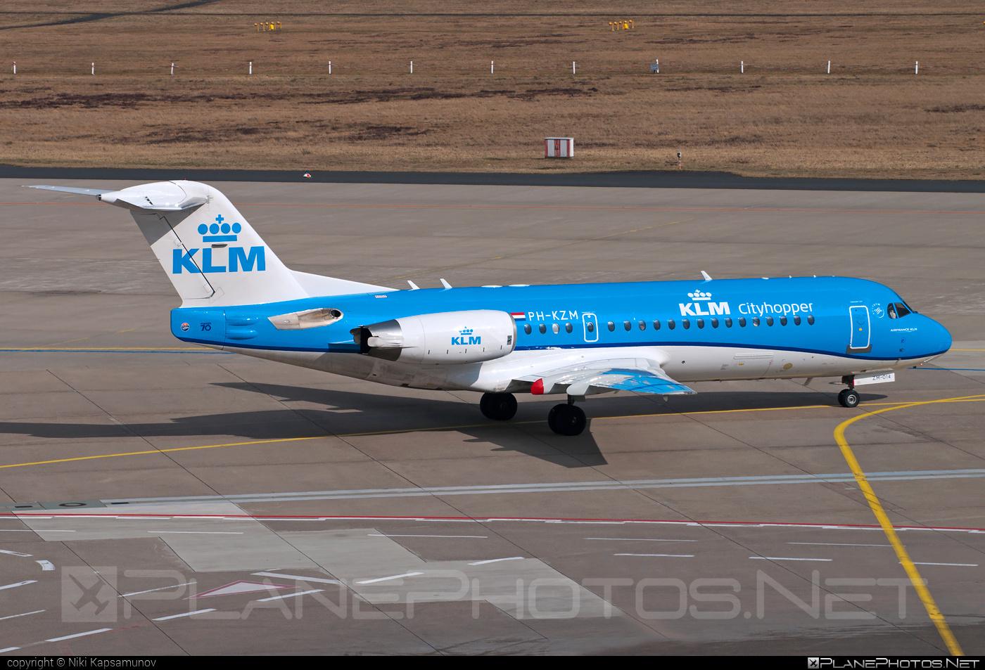 Fokker 70 - PH-KZM operated by KLM Cityhopper #fokker #klm #klmcityhopper