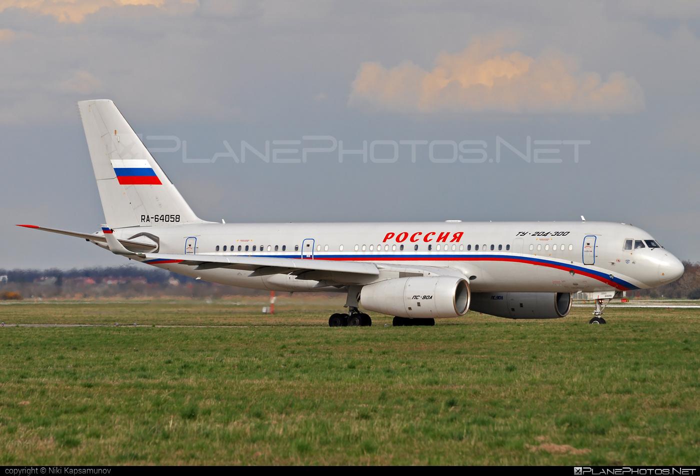 Tupolev Tu-204-300 - RA-64058 operated by Rossiya Airlines #tu204 #tu204300 #tupolev