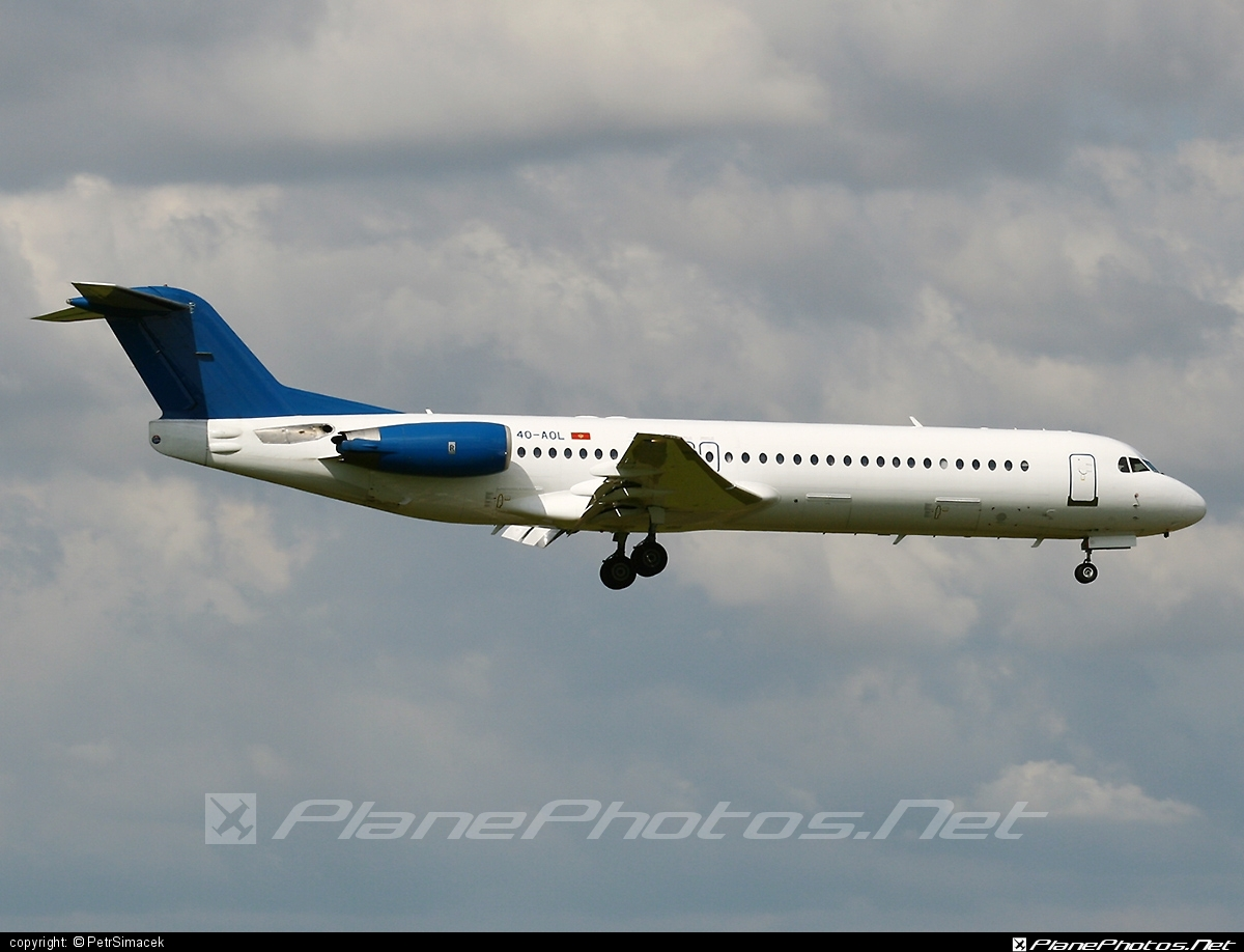 Fokker 100 - 4O-AOL operated by Montenegro Airlines #fokker