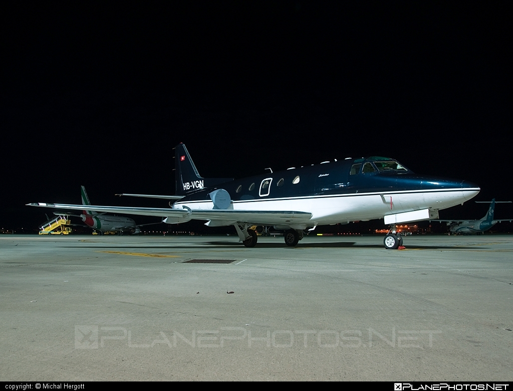 Rockwell Sabreliner 65 - HB-VCN operated by Sonnig SA #rockwell