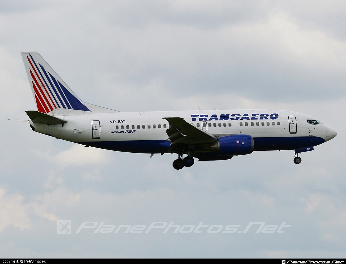 Boeing 737-500 - VP-BYI operated by Transaero Airlines #b737 #boeing #boeing737