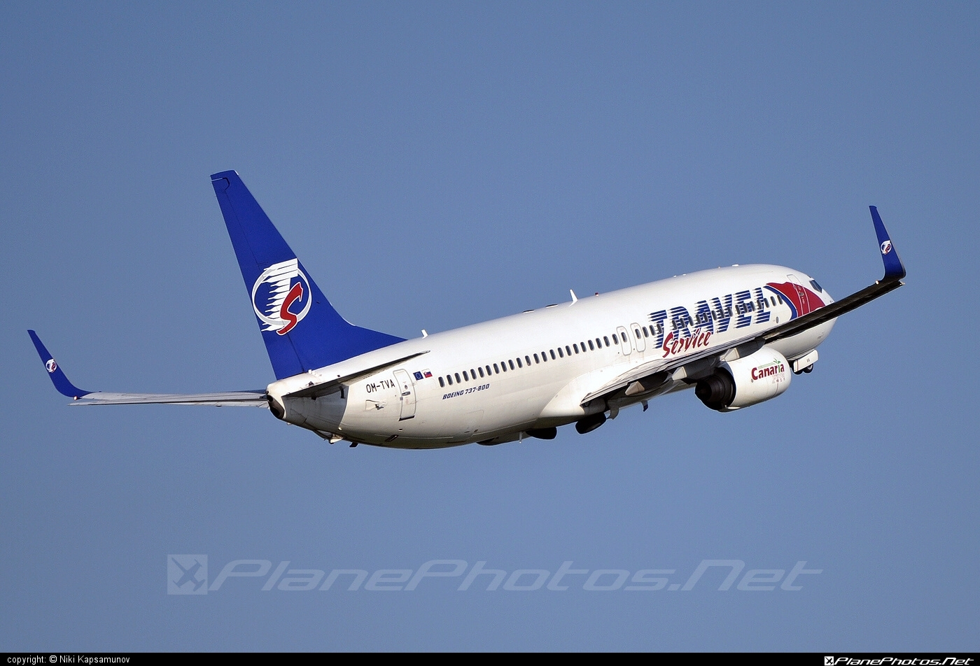 Boeing 737-800 - OM-TVA operated by Travel Service #b737 #b737nextgen #b737ng #boeing #boeing737 #travelservice