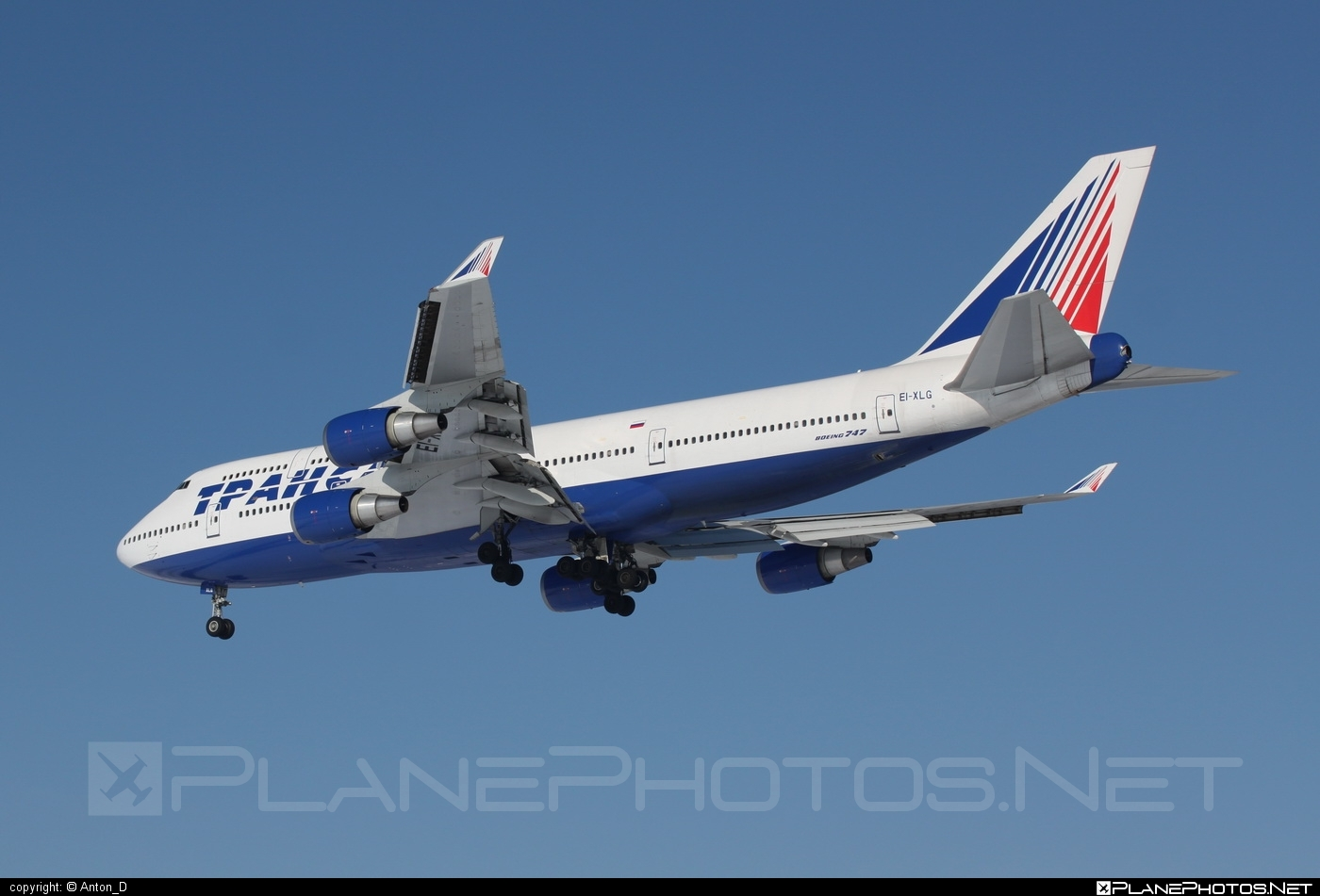 Boeing 747-400 - EI-XLG operated by Transaero Airlines #b747 #boeing #boeing747 #jumbo #transaero #transaeroairlines