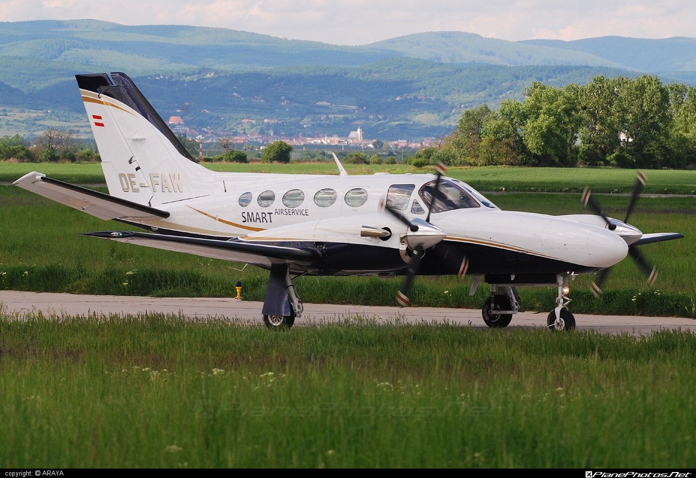 Cessna 425 Conquest I - OE-FAW operated by Private operator #cessna