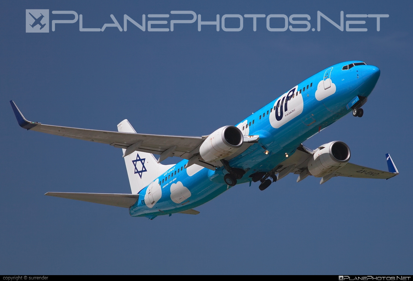 Boeing 737-800 - 4X-EKO operated by UP #b737 #b737nextgen #b737ng #boeing #boeing737