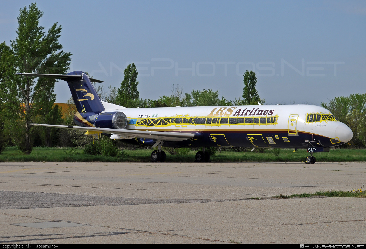 Fokker 100 - 5N-SAT operated by IRS Airlines #fokker #fokker100