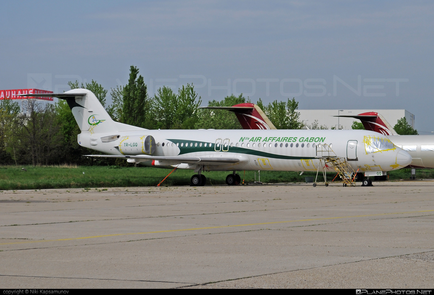 Fokker 100 - TR-LGQ operated by Nouvelle Air Affaires Gabon #fokker