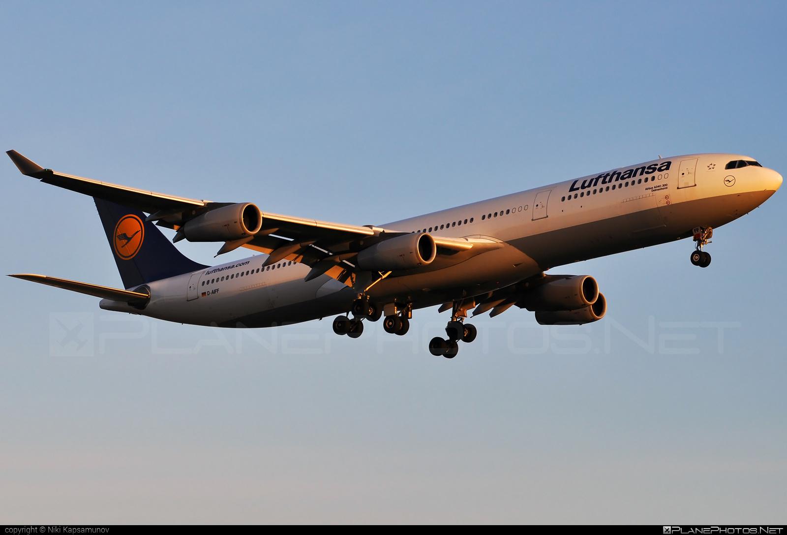 Airbus A340-313 - D-AIFF operated by Lufthansa #a340 #a340family #airbus #airbus340 #lufthansa