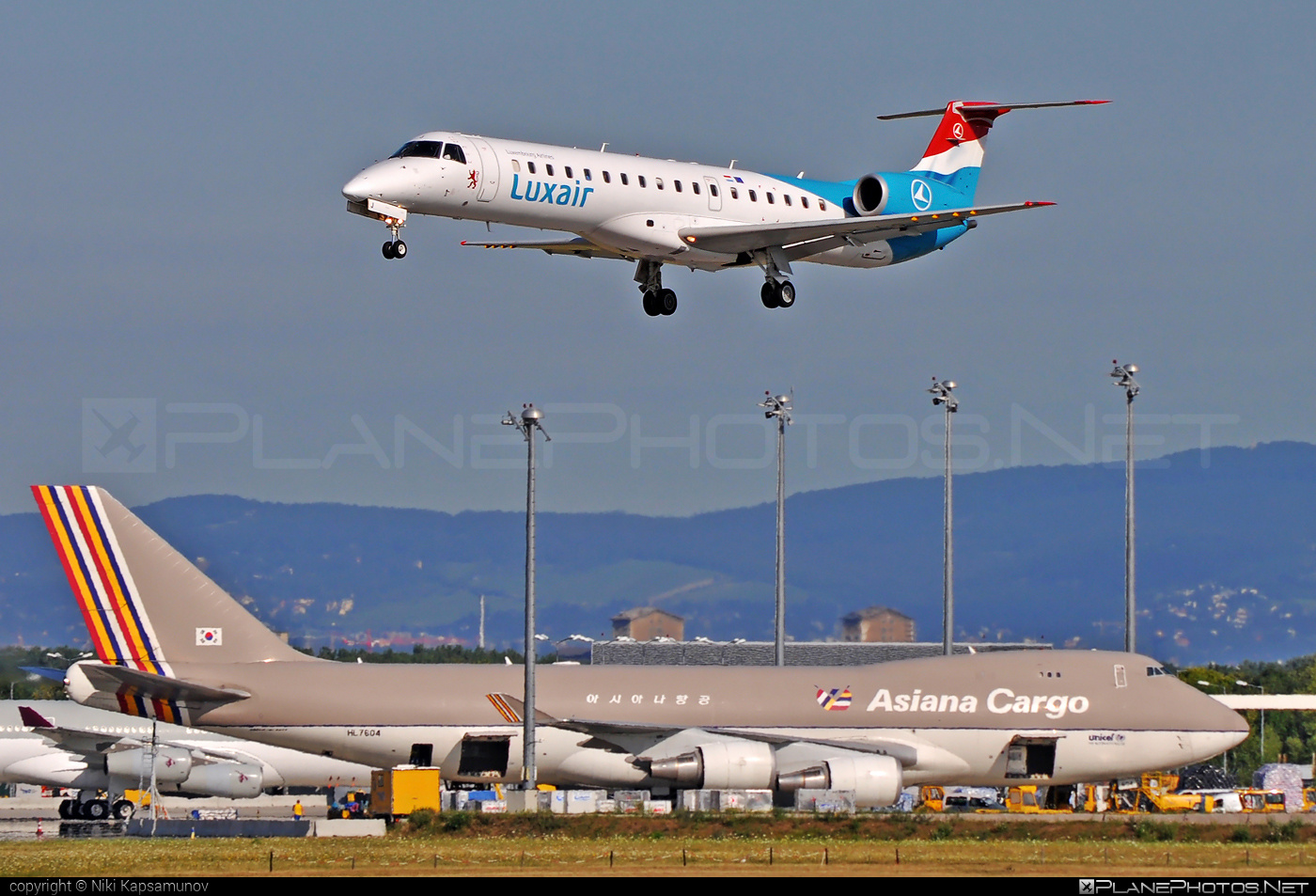 Embraer ERJ-145LU - LX-LGJ operated by Luxair #embraer
