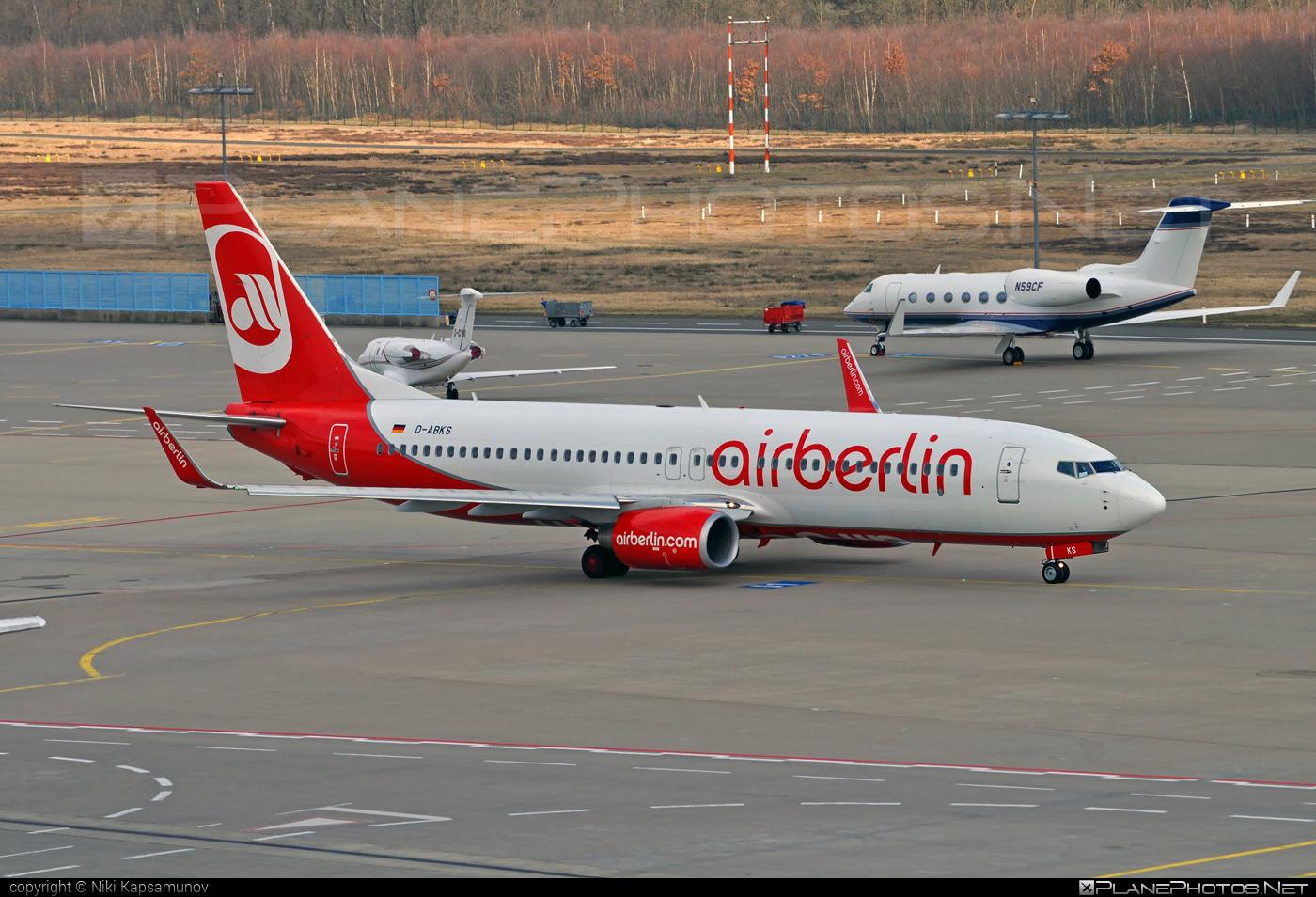Boeing 737-800 - D-ABKS operated by Air Berlin #airberlin #b737 #b737nextgen #b737ng #boeing #boeing737
