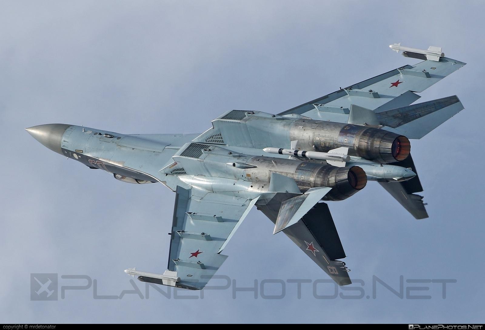 Sukhoi Su-35S - 03 operated by Voyenno-vozdushnye sily Rossii (Russian Air Force) #su35 #su35s #sukhoi #sukhoi35 #sukhoisu35s