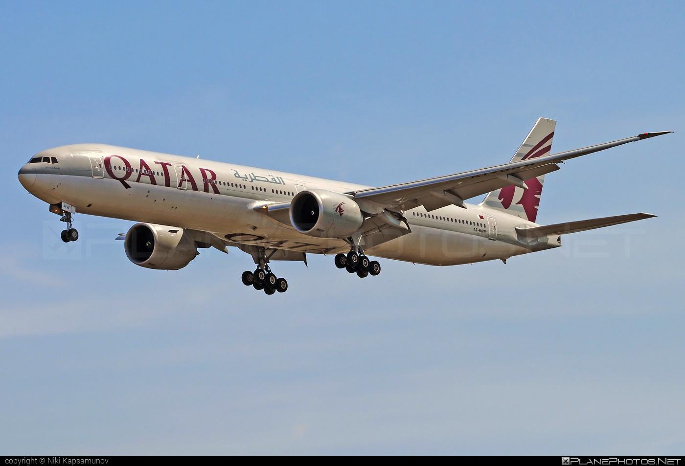 Boeing 777-300ER - A7-BAW operated by Qatar Airways #b777 #b777er #boeing #boeing777 #qatarairways #tripleseven