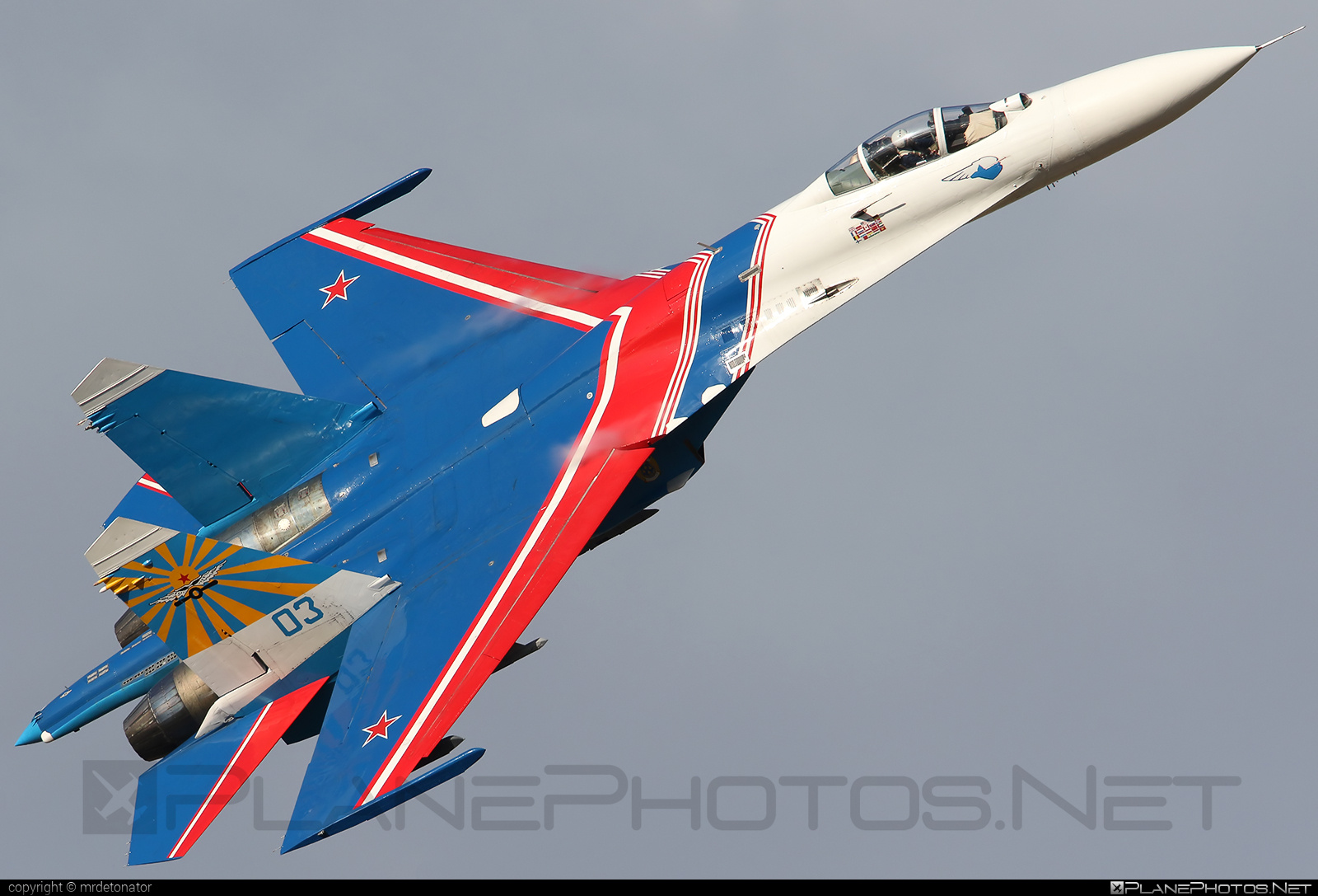 Sukhoi Su-27P - 03 operated by Voyenno-vozdushnye sily Rossii (Russian Air Force) #su27 #su27p #sukhoi #sukhoi27