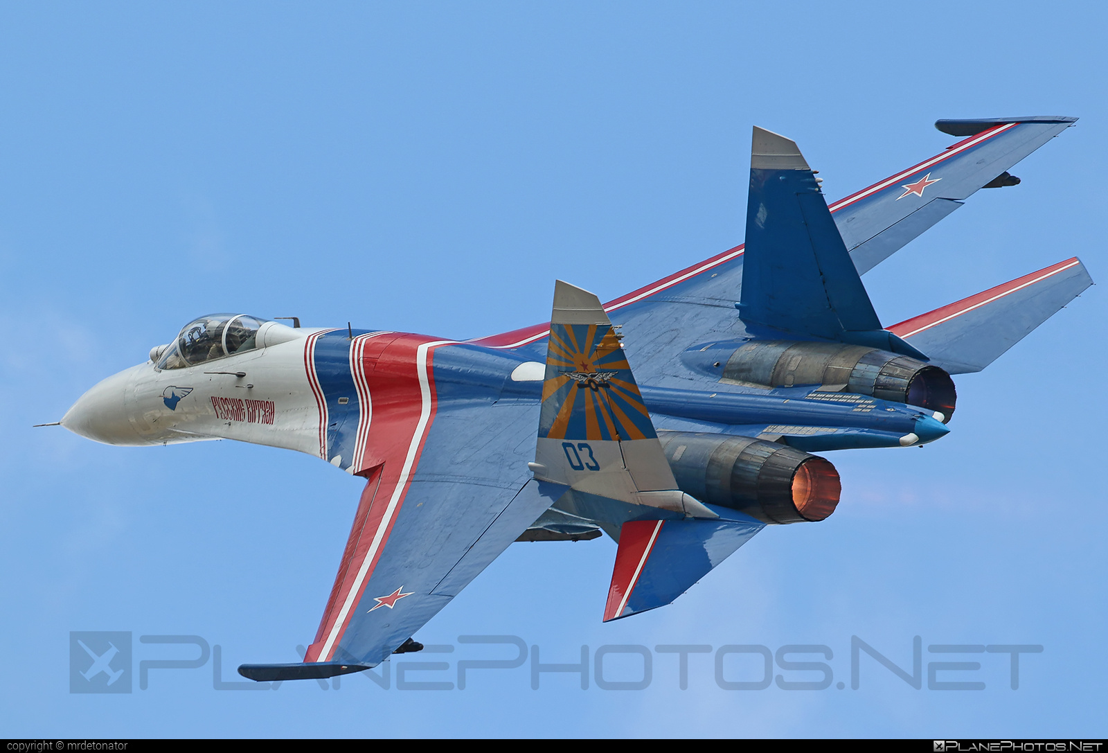 Sukhoi Su-27P - 03 operated by Voyenno-vozdushnye sily Rossii (Russian Air Force) #su27 #su27p #sukhoi #sukhoi27